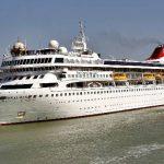 Histórico: el barco más grande nunca visto en el Canal de Corinto