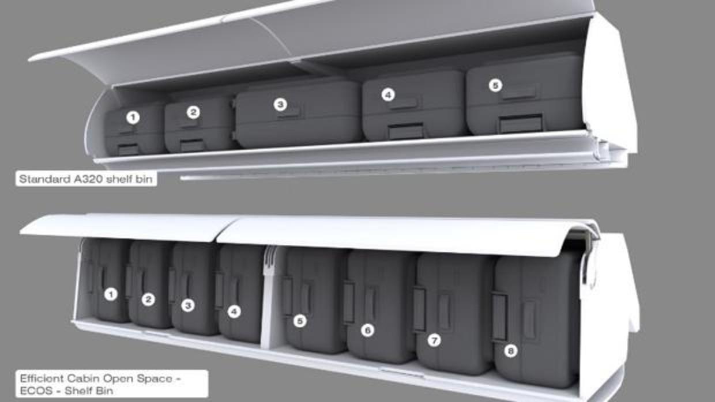El invento que cambiará la forma de llevar las maletas en la cabina del avión