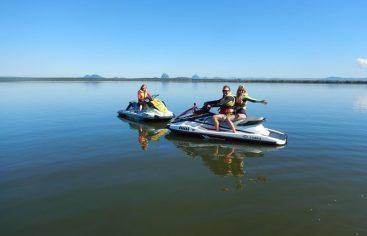 Jet ski, adrenalina que impulsa el deporte acuático en la presa de Tavera