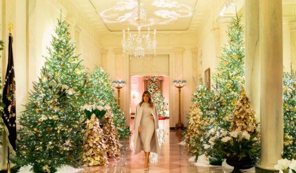 Melania Trump muestra la espectacular decoración de la Casa Blanca por Navidad