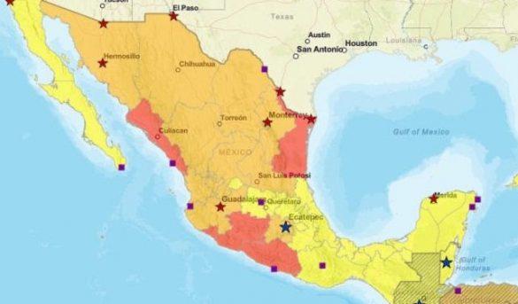 EU recomienda a no viajar a 5 estados mexicanos y los alerta en otros 11