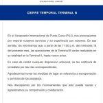 Aeropuerto Punta Cana cierra terminal B hasta nuevo aviso