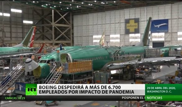 Boeing despedirá a más de 6.700 de empleados por impacto de la pandemia