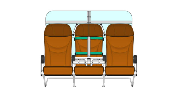 Este diseño de asiento de avión ayudaría al distanciamiento social a bordo