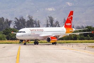 Sunrise Airways reinicia vuelos Santo Domingo, R.D.-Puerto Principe, Haiti el 3 de julio