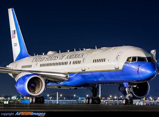 Este gigantesco avión C-32 de la Boing estuvo en el país con la visita del Secretario de Estado norteamericano a RD Mike Pompeo