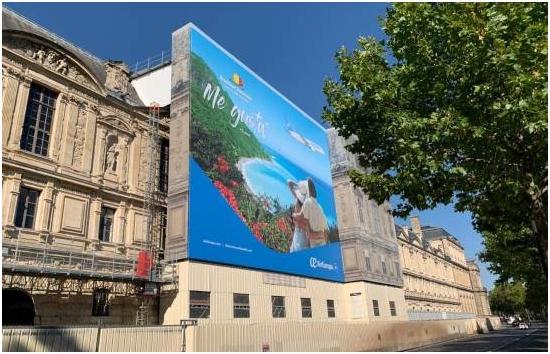 República Dominicana se promociona en fachada del Museo del Louvre en Francia