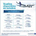 Copa Airlines reinicia operaciones esta semana a Santo Domingo y en la 1era semana de octubre a Punta Cana