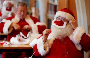 Venden en Alemania chocolates de Papá Noel con mascarilla