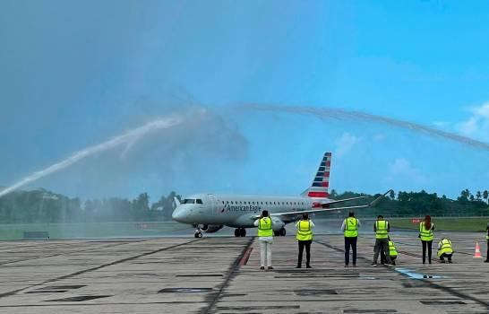 American inaugura quinto destino dominicano con vuelo entre Samaná y Charlotte