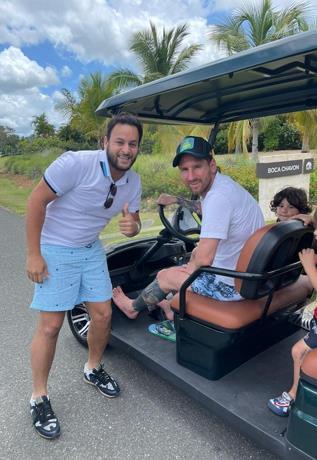 Leo Messi continúa vacacionando en Casa de Campo